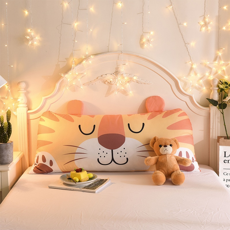 الكرتون الحيوان وسادة مسند الظهر وسادة انفصال قابل للغسل أريكة الفراش وسادة الظهر الأطفال لطيف السرير النوم الوسائد 50*110 سنتيمتر