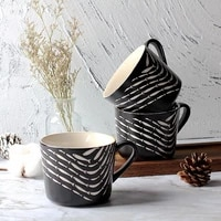 small fish pattern creative simple breakfast coffee milk ceramic cup with handle new trend for home office