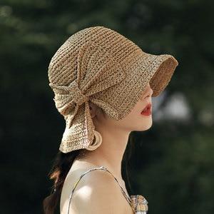 Brim and Bow Summer Hat Summer Hat Foldable Wide Brim Floppy Straw Sun Hat Summer Beach Hat for Women Girl TT@88