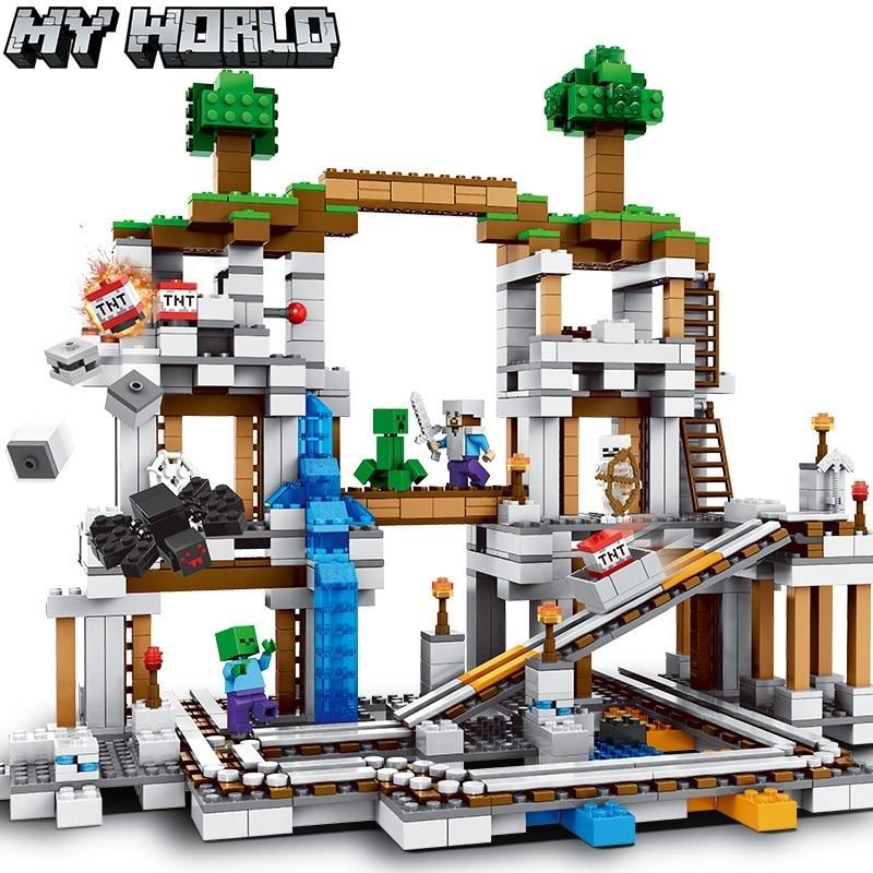 bloco de construcao da mina 10179 my world compativel com 21118 brinquedos de presente para criancas