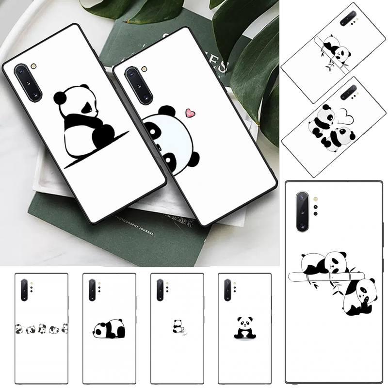 Cute Cartoon panda etui na telefon do Samsung S6 S7 krawędzi S8 S9 S10 e plus A10 A50 A70 note8 J7 2017