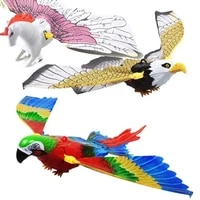 exterior garden decoration wind chimes luminous electric bird repellent fake flying eagle horse pendant wind spinnergothic style