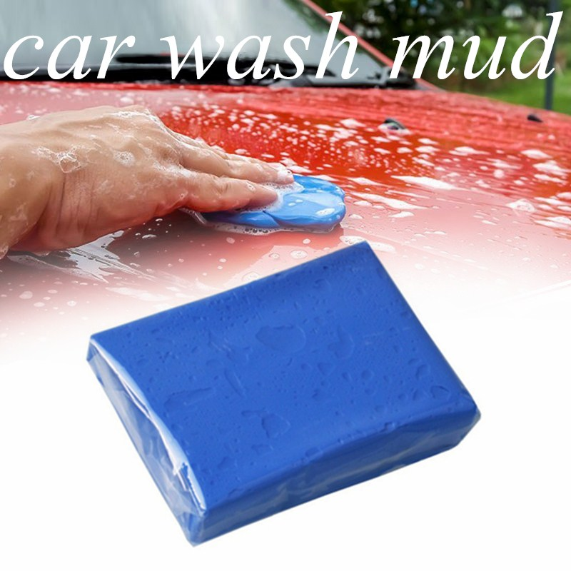 Car Wash Clay Reuse 180/100g Auto Detailing Volcanic Mud Detailing Wash Handheld Car Wash Mud Clean Maintenance Tools Blue