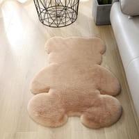 carpet living room thick rug bear modern bed room bedroom fluffy floor carpets white brown long soft velvet mats