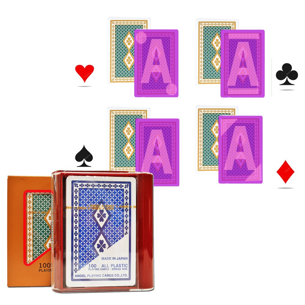 Волшебный покер для инфракрасных контактных линз, японские невидимые чернила, маркированные игральные карты, angel пластиковые карты для пок...