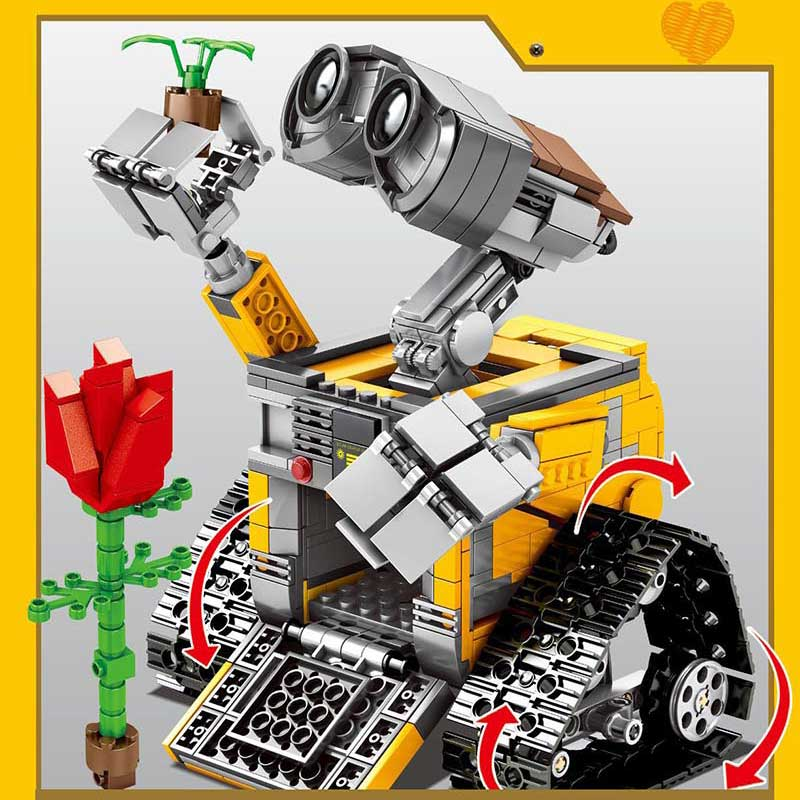 687 RC Control remoto pared E figura de robot bloques de construcción ladrillos jueguetes de regalo para manualidades Compatible Idea Creator Technic para niños chico