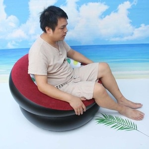 Simple And Convenient To Carry Lazy Inflatable Sofa Single Flocking Inflatable Sofa Folding Sofa