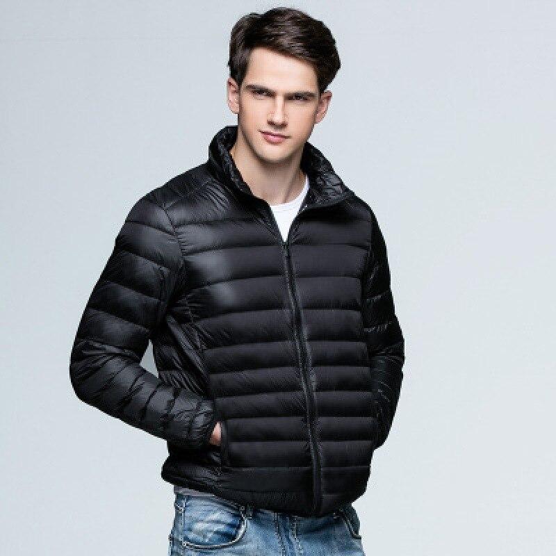 Новинка, осенне-зимняя мужская куртка на утином пуху, ульсветильник кие тонкие женские весенние куртки, мужская верхняя одежда с воротником...