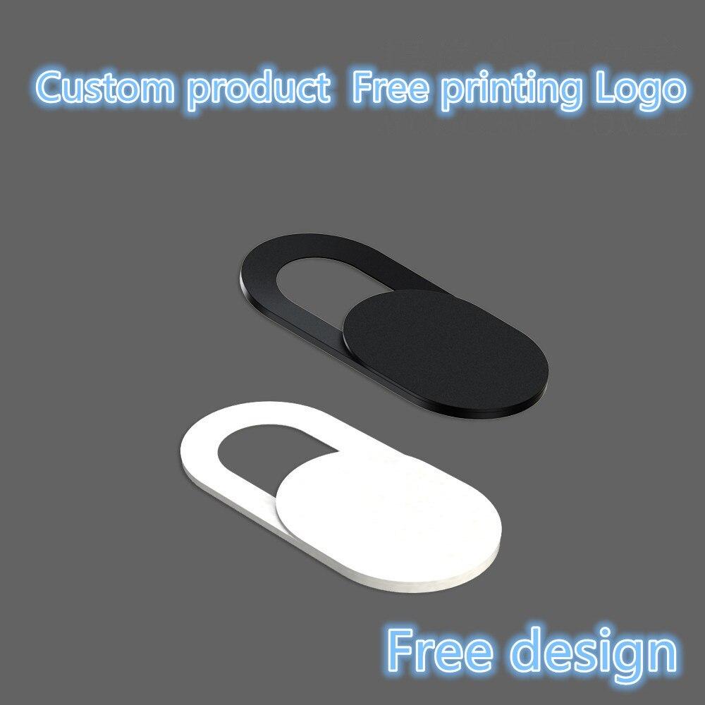 25-500 Uds. Productos personalizados Logotipo de impresión gratuita Universal WebCam cubierta Ultra delgado obturador deslizador lente de la Cámara cubierta para su logotipo