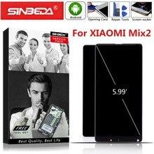شاشة عرض LCD أصلية 5.99 بوصة لهاتف شاومي MI Mix 2 تعمل باللمس مع إطار لشاومي Mix 2 شاشة للاستبدال MI MIX2 LCD