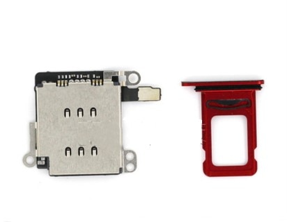 For IPhone XR Dual SIM Card Reader Flex Cable +SIM Card Tray Holder Slot Adapter Replacement