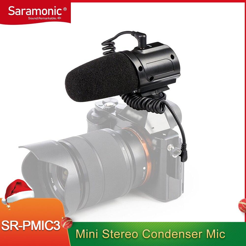 سارامونيك SR-PMIC3 ميكرفون تسجيل محيطي مع شوك ماونت متكامل ، فلتر منخفض القطع وعملية خالية من البطارية خفيفة الوزن
