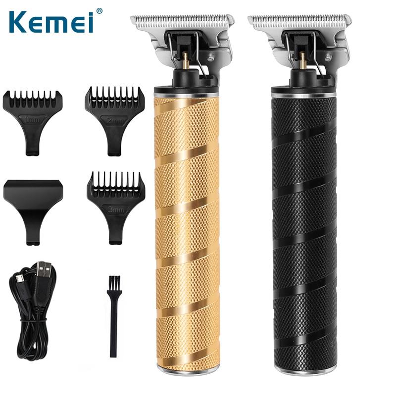 KM-T9 Pro Li t-outliner barbería profesional eléctrico cortador de pelo inalámbrico para hombres de 0mm cortadora de pelo de cabeza calva
