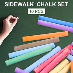 Conjunto de giz de calçada cores brilhantes rabisco lavável não-tóxico desenho dustless giz para crianças 10 pçs cores brilhantes e diversas