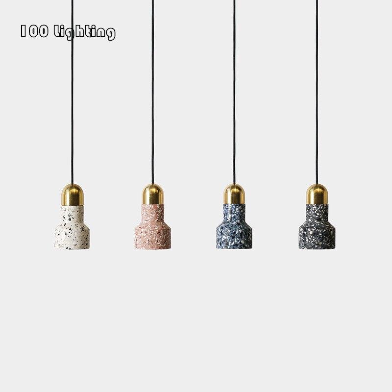 مصباح معلق LED بتصميم عتيق من الأسمنت ، متوفر باللون الأسود والأبيض والأزرق والوردي ، وهو مثالي للمطبخ أو غرفة الطعام أو غرفة النوم.