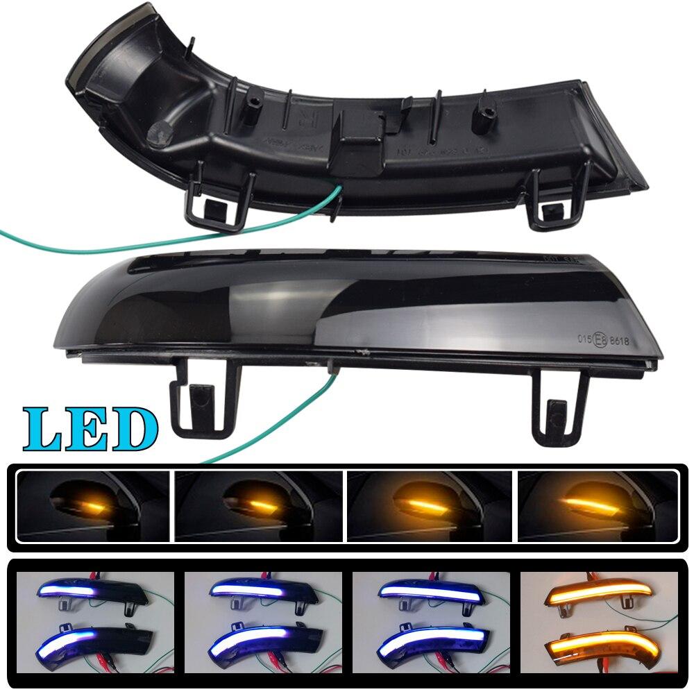 2 uds coche LED dinámica de luz de señal de giro retrovisor...