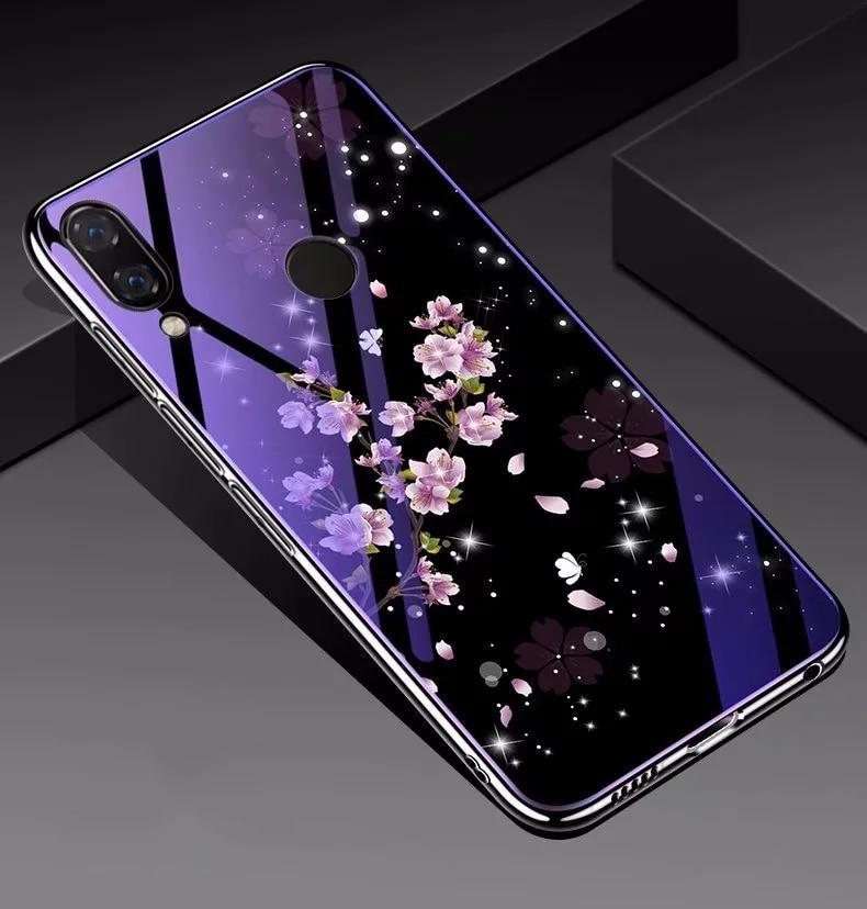 Чехол из закаленного стекла для Huawei P30 P20 Pro P20 Lite Honor 20 10 Nova 5T 3 3e 4e, роскошный ударопрочный чехол с синим светом