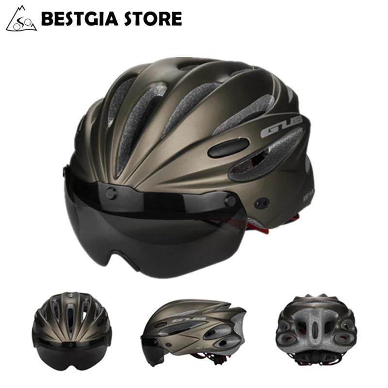 GUB-Casco de Ciclismo de alta densidad EPS con gafas, para deportes de...