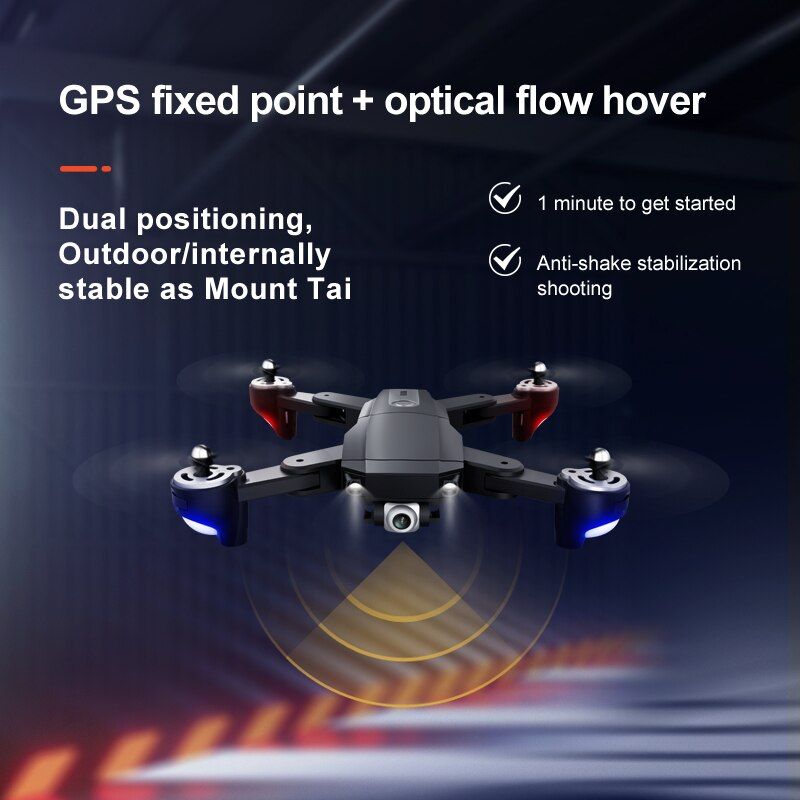 S604 RC Professional 4K Drone GPS with WIFI Wide Angle HD FPV Camera Quadcopter Racing  Dron Foldable Helicopter Toys enlarge