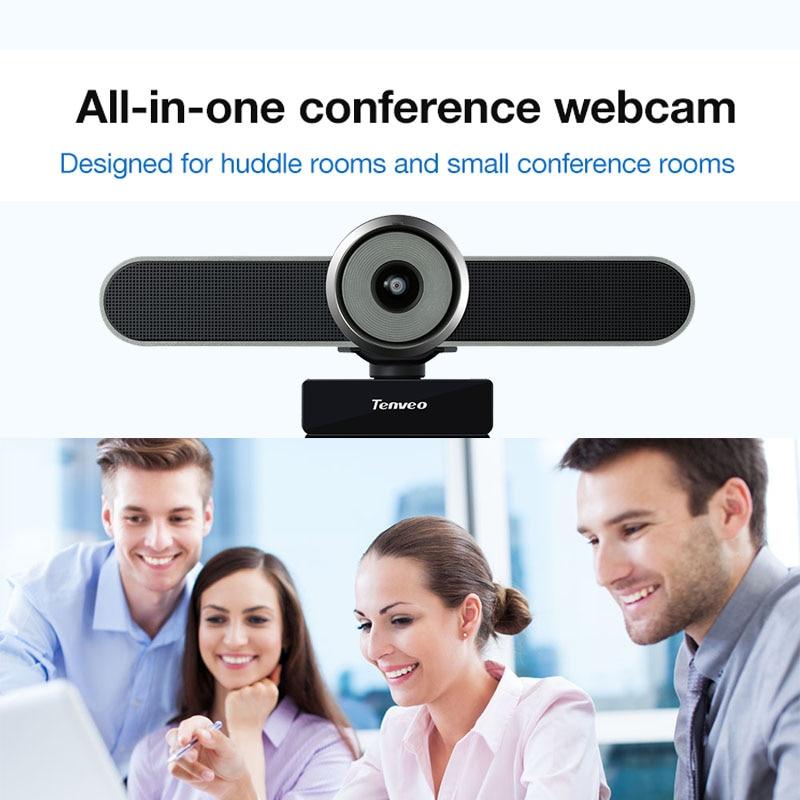 Tenveo va4k 11mp webcam 124 ° fov usb plug and play com microfone e alto-falante transmissão ao vivo vídeo chamando conferência câmera web do pc