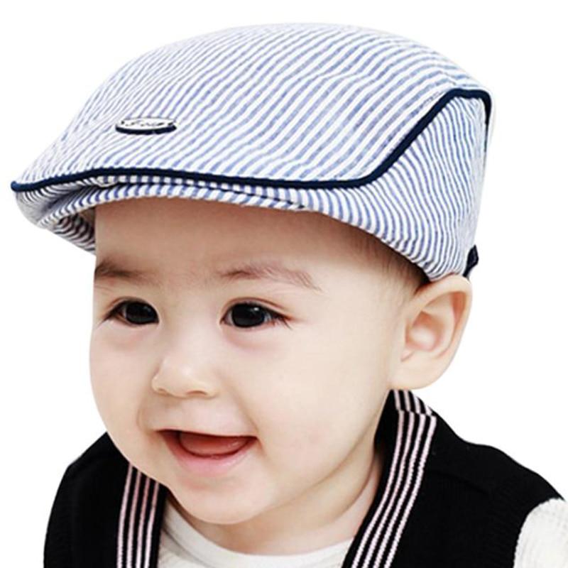 boys stripe Baby hats Cute Children Stripe Classic Style Fashion Cap Toddler Spring Summer Berets Baseball Caps for Girls boys dropship