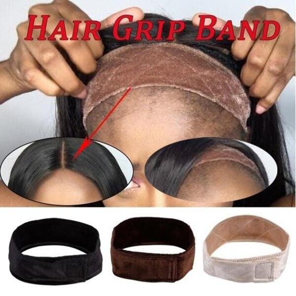 Banda de sujeción de Peluca de encaje antideslizante para mujer, banda ajustable cómoda de terciopelo, pañuelo para el pelo, peluca para regalo, accesorios para peluca con diadema