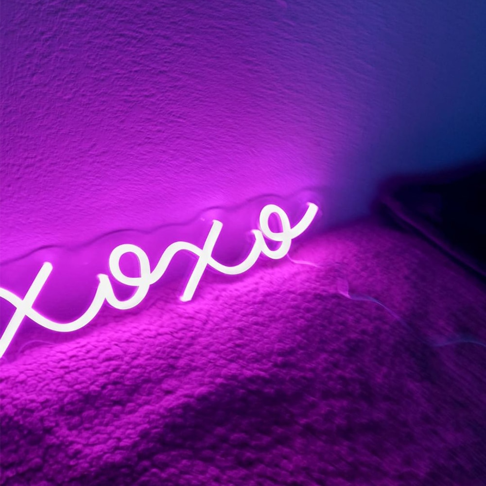 XOXO For Family Neon Sign Led Light Custom Name Logo Personalized Decor Letter Led Wall Home Club Birthday Gift Neon Light Sign enlarge