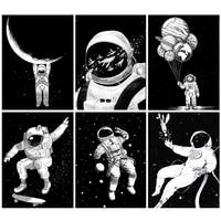 5d diy diamond painting cartoon astronaut picture squareround full diamond mosaic embroidery cross stitch kit home decor