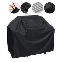 Capa protetora para grelha de churrasco, capa para grelha e churrasco ao ar livre, capa preta à prova de poeira, cobertura à prova dágua para grelha de churrasco