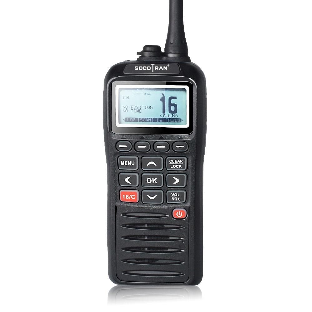 SOCOTRAN RS-38M نظام تحديد المواقع البحرية اتجاهين راديو VHF يده يطفو مقاوم للماء IPX7 ATIS رمز ثلاثي ساعة 156.025-157.425MHz جهاز الإرسال والاستقبال
