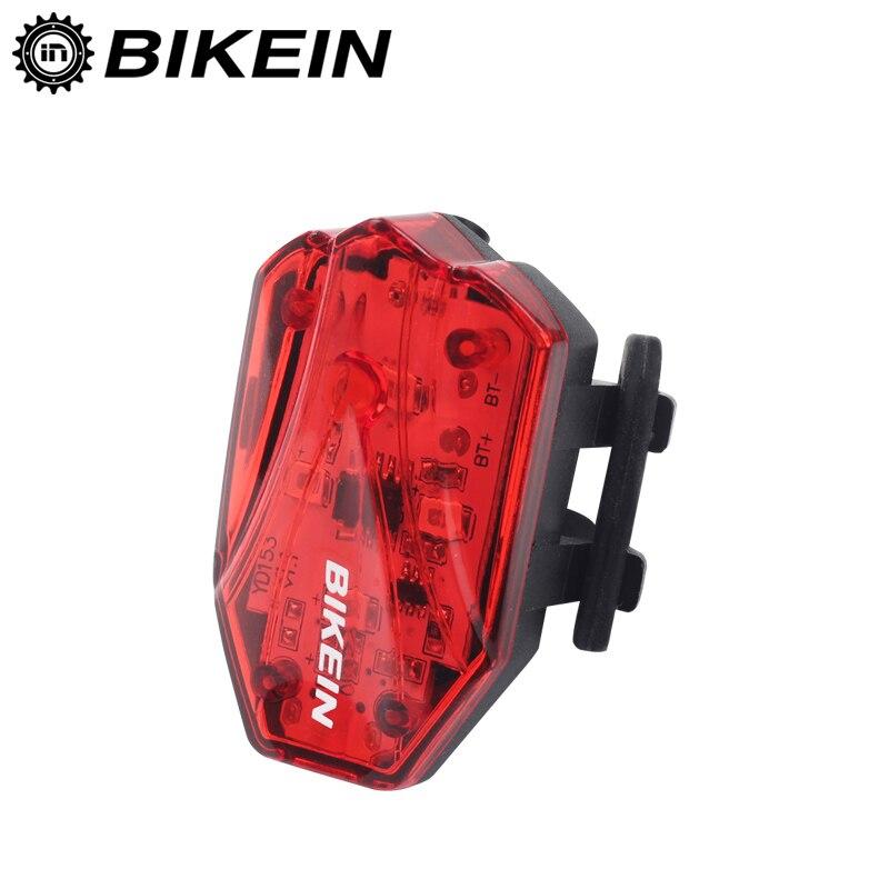 Luz trasera BIKEIN COB para bicicleta, luz trasera resistente al agua para montar, luz Led USB recargable para bicicleta de montaña, luces para bicicleta