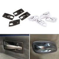 car styling carbon texture interior door handle bowl frame cover trim for bmw 5 series e60 2004 2005 2006 2007 2008 2009 2010