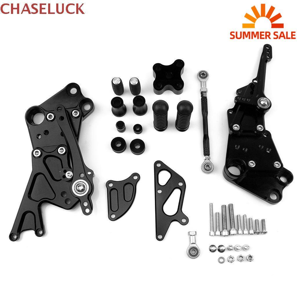 Reposapiés traseros ajustables para KTM 125 Duke 200 390 CNC, juegos de reposapiés Duke125 Duke200 Duke390 2011 2012-2017