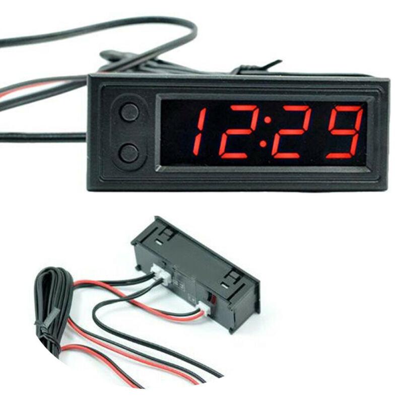 12 В 3 в 1 Автомобильный Комплект термометр + Вольтметр + часы светодиодный цифровой дисплей аксессуары для автомобиля Вольтметр