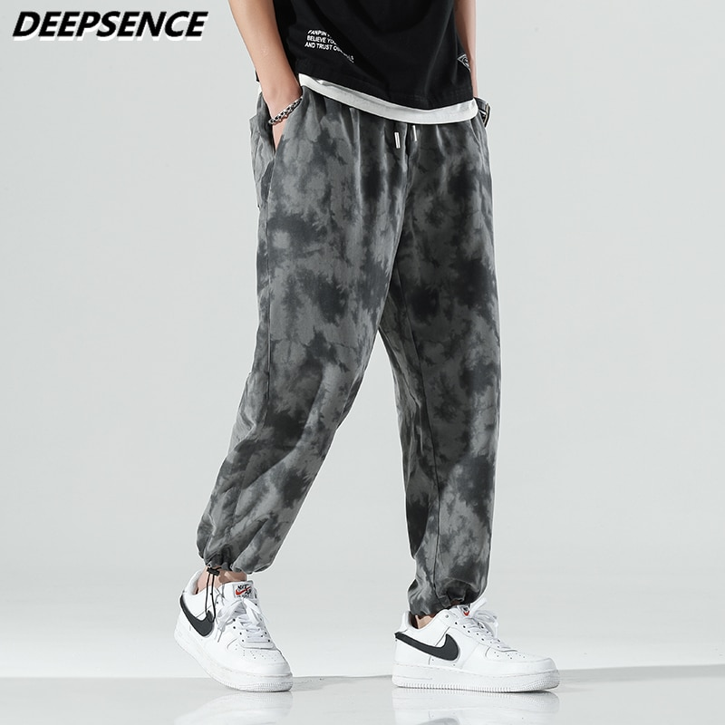 Men Casual Pants 2021 New Autumn Cargo Pants Men Fashion Trend Camouflage Loose Fit Microelasticity