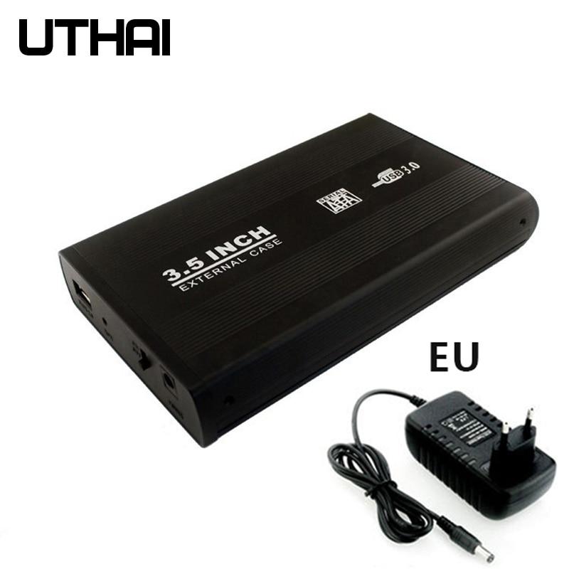 Q07 3.5 بوصة SATA إلى USB 3.0 سطح المكتب سبائك الألومنيوم قوية تبديد الحرارة القرص الصلب الضميمة الخارجية موبايل قالب أقراص صلبة