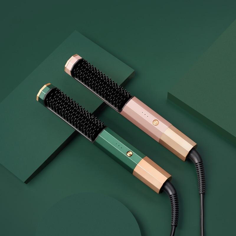 2in1 Hot Comb Straightener Electric Hair Straightener Hair Curler Hair Flat Irons