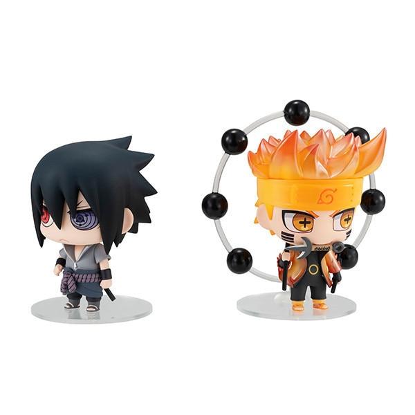 2PCS/SET Naruto Shippuden Uzumaki Naruto Uchiha Sasuke figure Anime Action Figure PVC New Collection figures toys