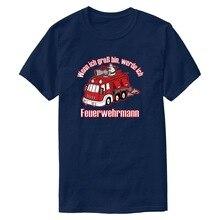 Personalizar camiseta de bombero cuando era un gran pingüino para hombre 2020 para hombre Camiseta de manga corta Kawaii