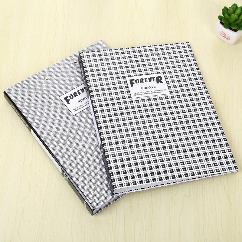 A4 escritório pasta clipe interior organizadores de escritório capa dura documento organizador arquivo pasta fashinable grade design armazenamento de papel