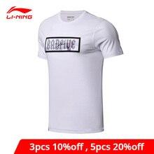 Li-ning hommes mauvais cinq maillots de basket-ball T-Shirts coupe régulière coton Polyester doublure Li Ning sport T-shirt AHSN067 MTS2792