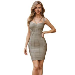 New Summer Women Bandage Dress Vestidos Verano Sexy Strap Backless Sleeveless Bodycon Clubwear Celebrity Party Dress