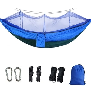 Camping Hammock Portable Hammock with Mosquito Net Fabric Hammock Outdoor Swing Hammock Mosquito Net