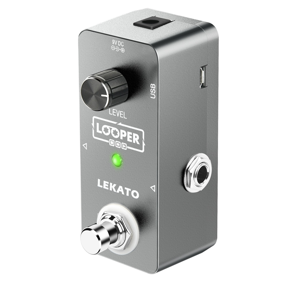 LEKATO Guitar Looper  Effect Pedal 5 Minutes 300s Looping Recording AU with Tuner Unlimited Overdub Guitar Looper Effect Pedal