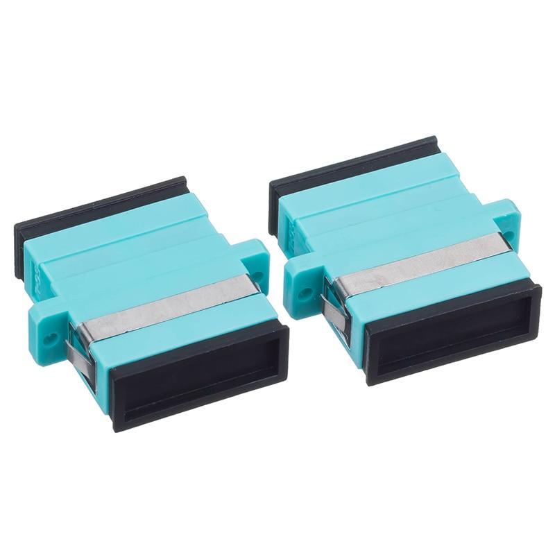 OM3 Aqua adaptador de fibra óptica, brida conjunta SC-SC Multi Modo Doble