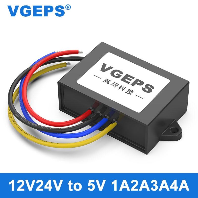 Изолированный 12V24V до 5V модуль источника питания постоянного тока с 9-40 5В Автомобильная понижающий мощность DC-DC конвертер