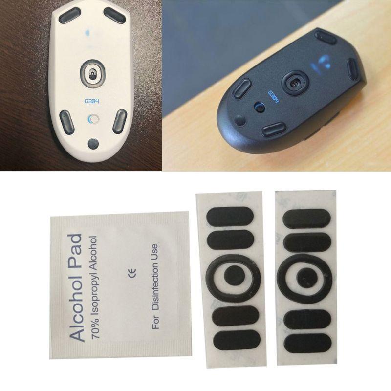 2 шт 0,6 мм толщина Замена мышь ноги мышь коньки для logitech G304 G305 мышь коньки наклейки коврик мышь скользит кривая
