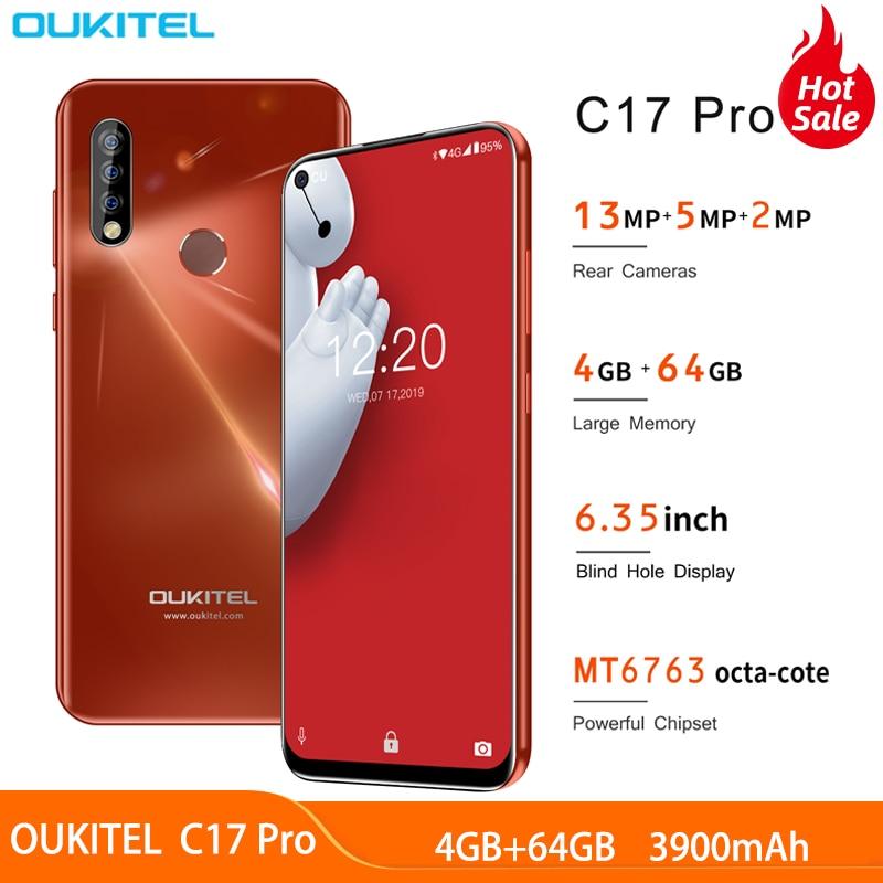 "OUKITEL C17 Pro Android 9.0 6.35"" 19: 9 4GB 64GB smartphone 4G band Mobile phone fingerprints Face ID Octa Core 3900mAh"