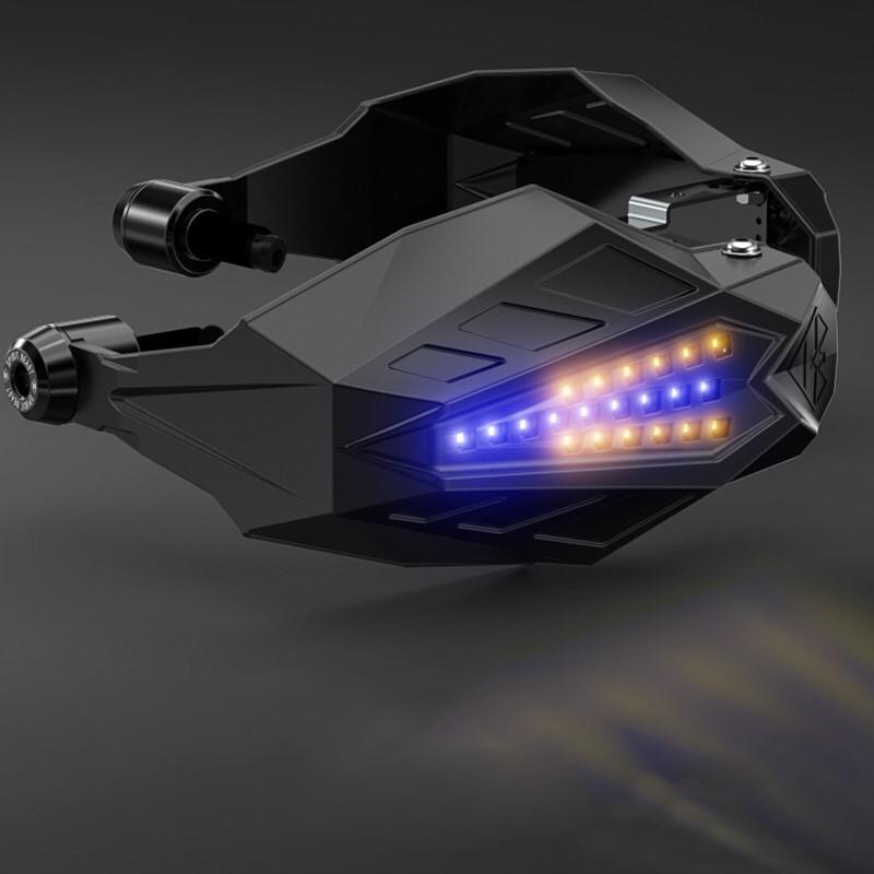 Protector de mano Universal para motocicleta Protector de parabrisas con LED para yamaha vtx 1800 varadero 1000 cbr 600hr cb 400 sf