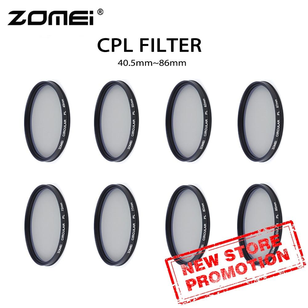 Filtro para Lente da Câmera Zomei Milímetros 52mm 58mm 62mm 67mm 72mm 77mm 82mm 86 Polarizador 40.5 Cpl 49mm